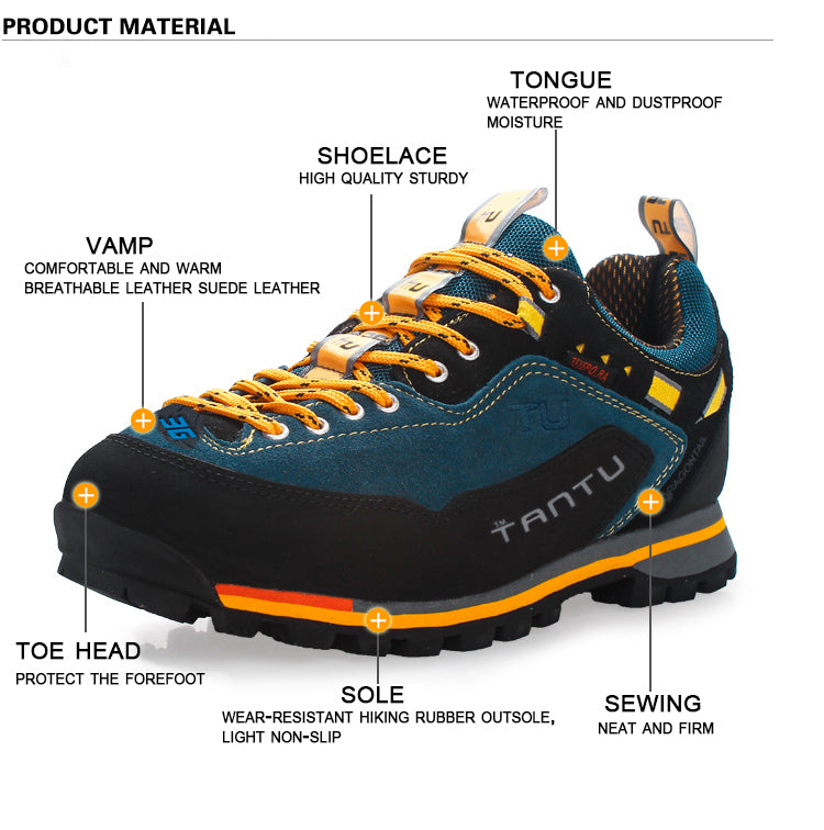 Camping Climbing Rubber Sole Leather