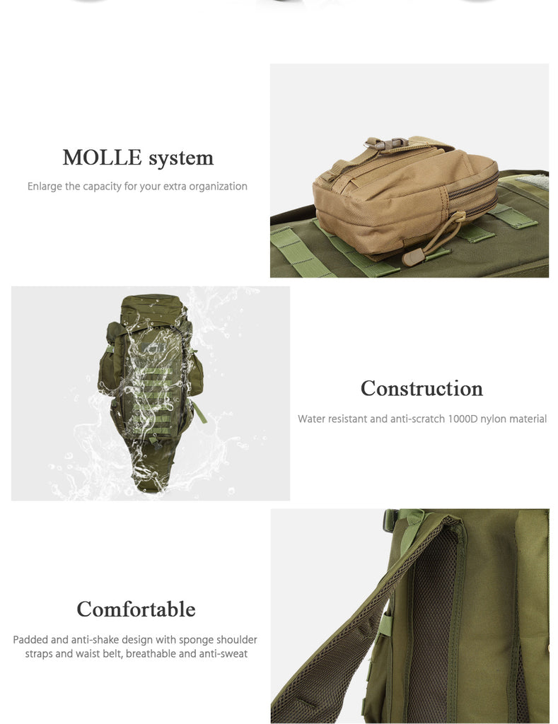 Outdoor Backpack for Camping Trekking Hiking
