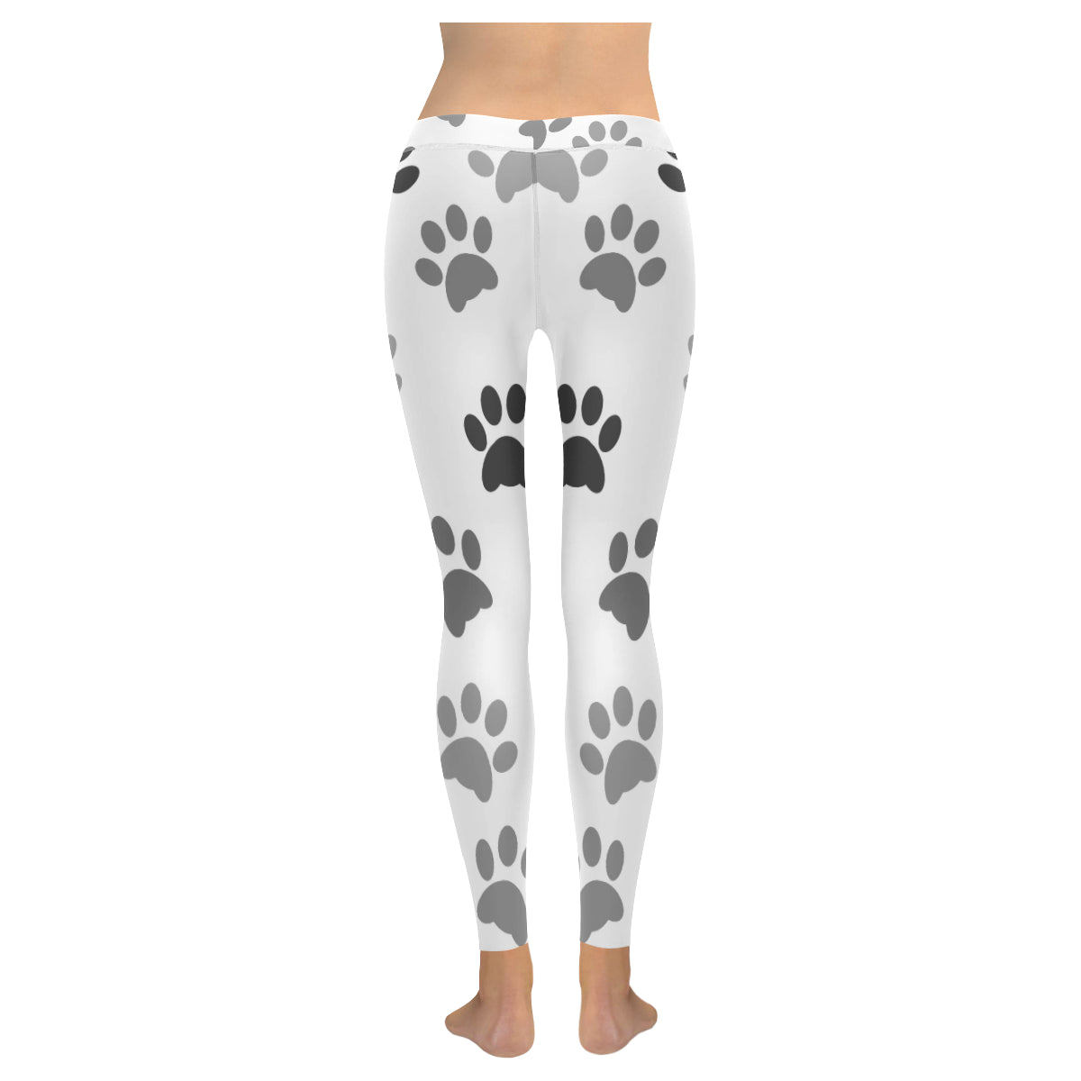 Legging au design pattes de chat dos