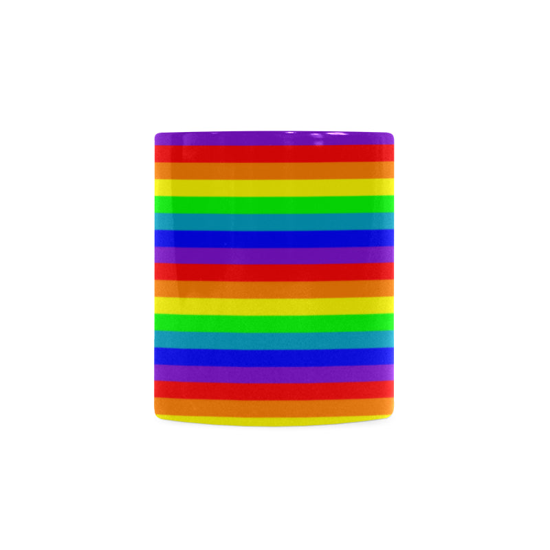 Mug arc en ciel LGBTQ friendly de face