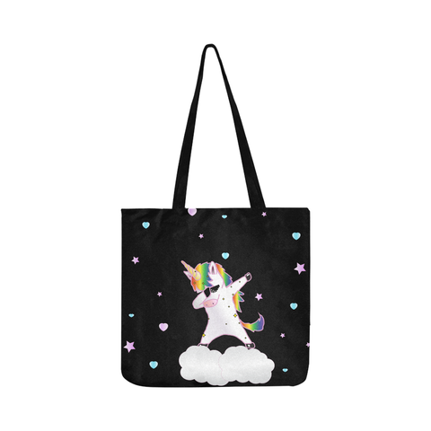 Tote bag en tissu Oxford au design Licorne dab thug ( 3 couleurs disponibles !!! ).