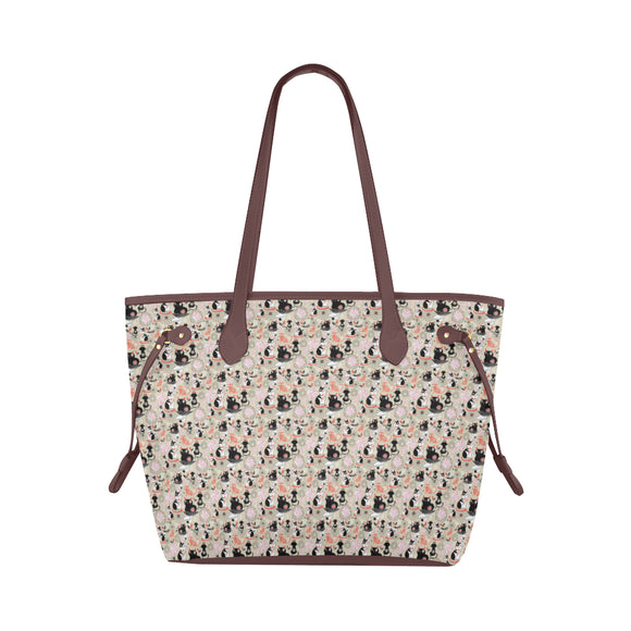 Tote bag waterproof au design dessin de chats face