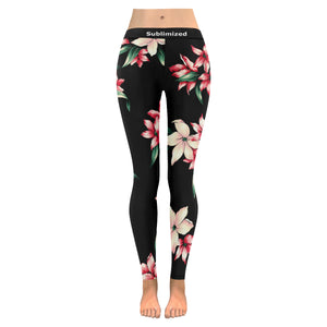 Legging au design fleurs tropicales face