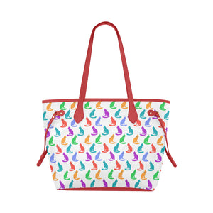 Tote bag waterproof chats en couleurs face