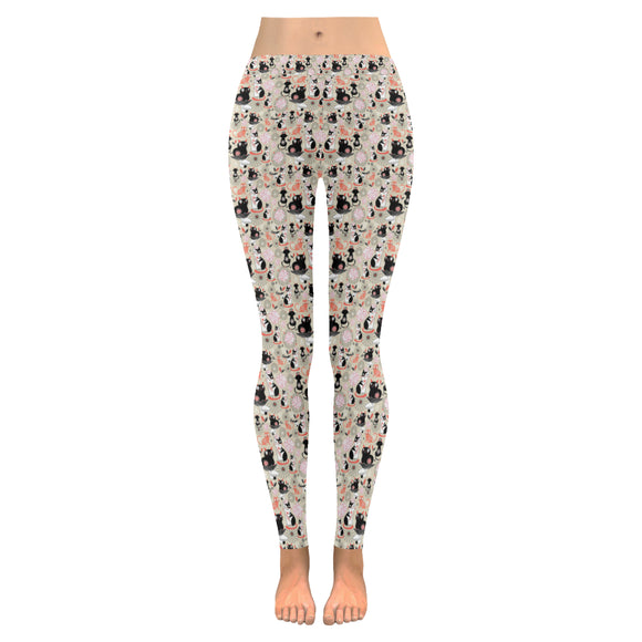 Leggings au design dessin de chats devant