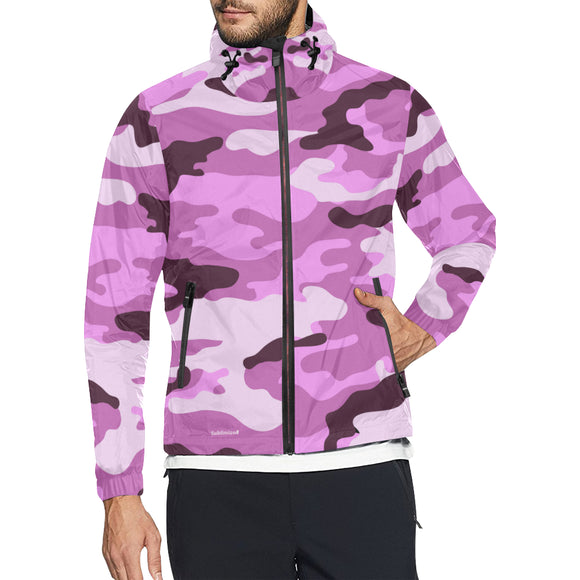Coupe vent camouflage rose urbain kway camouflage rose k-way rose