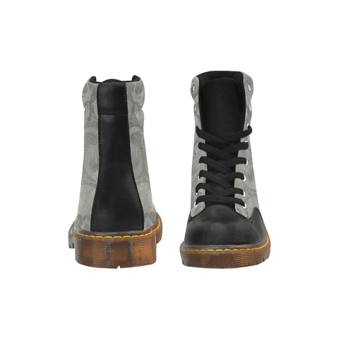 Boots de type Martens au design crânes et dragons face