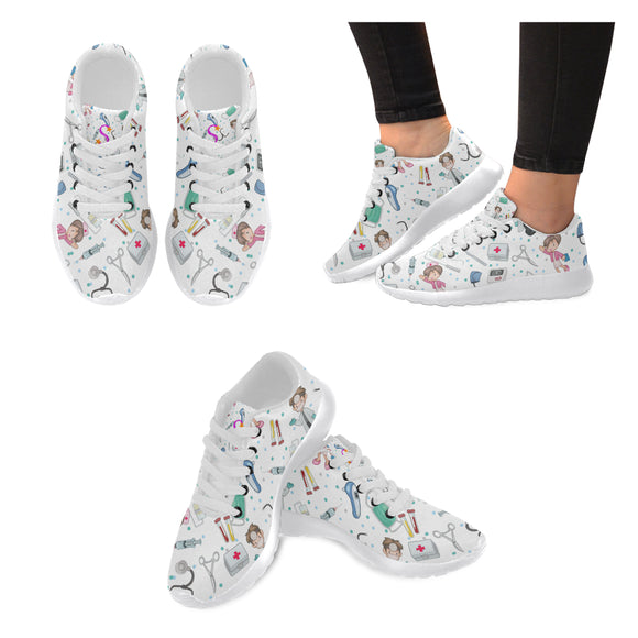 Baskets infirmières blanches chaussures hopital sneakers infirmières blanches
