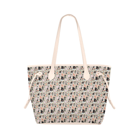 Tote bag waterproof au design dessin de chats.