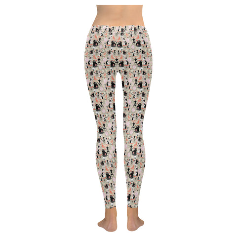 Leggings au design dessin de chats dos