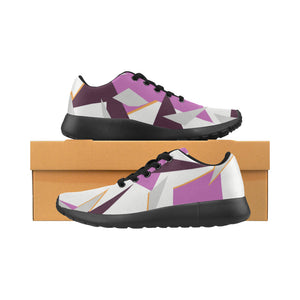 Sneakers au design camouflage alpin rose 3 vues