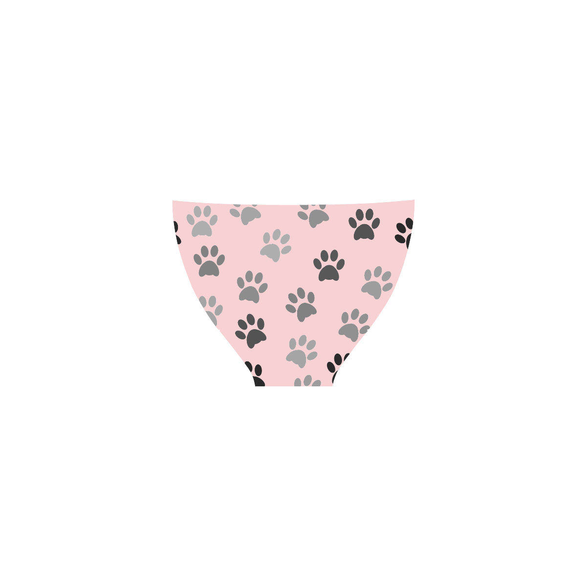 Maillot de bain rose au design pattes de chat dos
