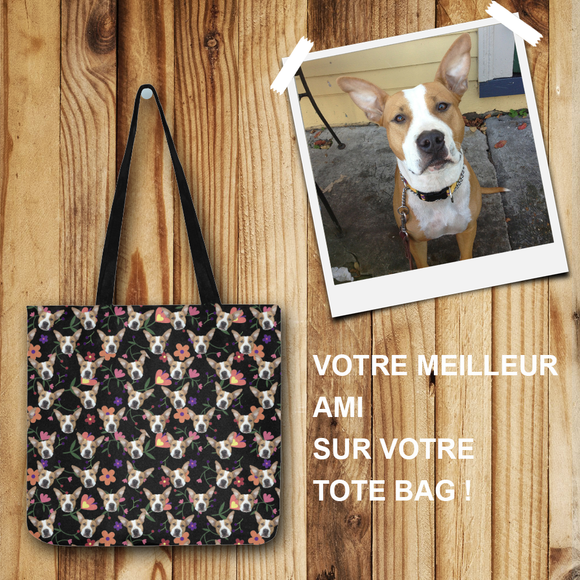tote bag chien personnalisable