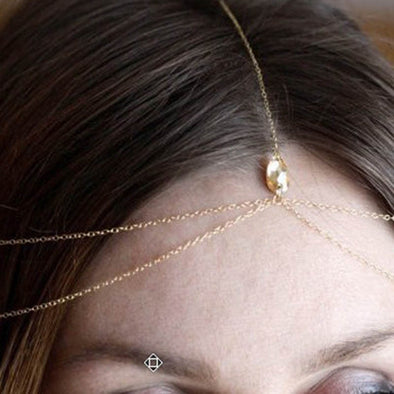 Head Chain Crystal Accessories Hair Wrap Jewelry Headband