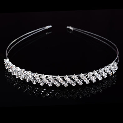 Bridal Bridesmaid Tiara Crown Crystal Rhinestone Jewelry Headband