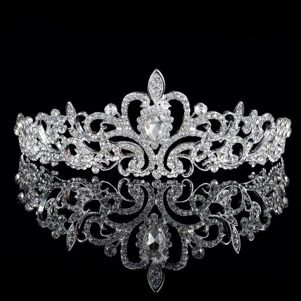 Luxury Wedding Bridal Crystal White Tiaras Crowns Headband Hair Accessories
