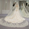 4 Meters White & Ivory Sequins Blings Sparkling Lace Edge Purfle Cathedral Wedding Veils - Veilsandweddingaccessories
