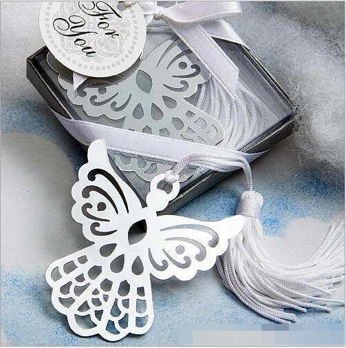 10pcs Guardian Angel Bookmark w/Tassel Baptism Girl Baby Shower Souvenirs Event Party