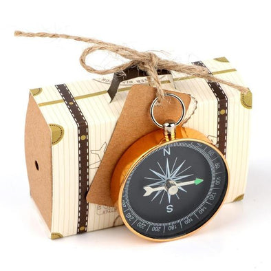 10pcs Creative Wedding Anniversary Decorations Candy Box with Compass