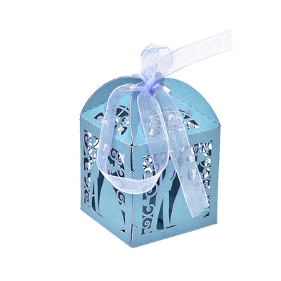 50 Pcs/set Mr & Mrs Wedding Candy Box Sweets Gift Favor Boxes with Ribbon Party