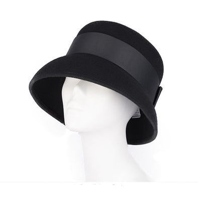 Wool Wide Brim Vintage Fedora Hats Black Brown For Women