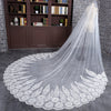 3Meter  Long White Ivory Lace Edge One Layer Bridal Wedding Cathedral Veils With Comb - Veilsandweddingaccessories