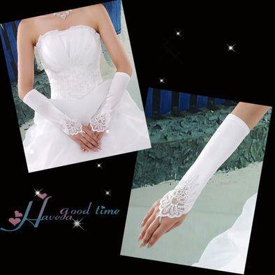 Wedding Bridal White Gloves