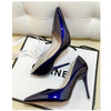 Fits True to Size Pointed Toe High-Heeled Patent Leather Stiletto Shoes