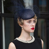 FS Vintage Woman Fashion Dark Blue Pillbox Hats