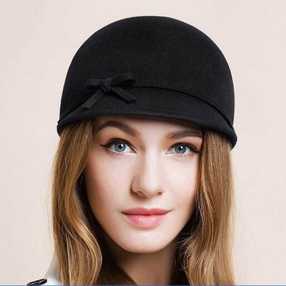 100% Wool Fedora Women Winter Hats Lady Classic