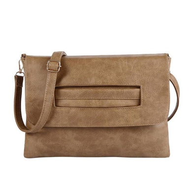 Women Envelope Clutch Bag Leather