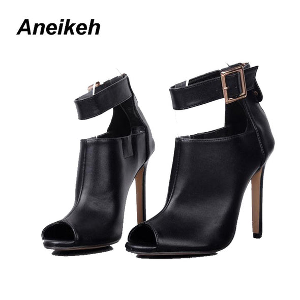 Aneikeh Gladiator Women Pumps and Wedding Shoes