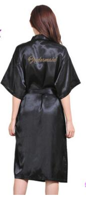 Gold Letter Bride Bridesmaid Get Ready Robes