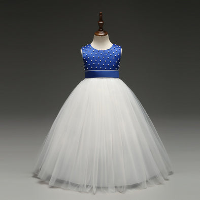 Ball Gown Pearls Flower Girl Dresses