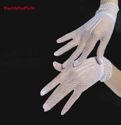 Three Color White Bridal Gloves