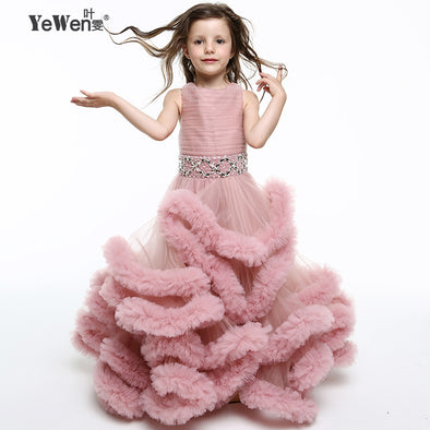Cloud little flower girls dresses for weddings