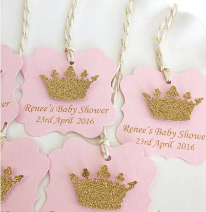 custom Pink and Gold  baby shower Gift