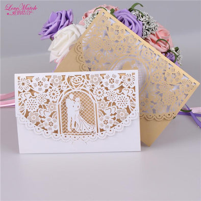 10sets Bride And Groom Wedding invitations Card Wedding Gifts For Guests