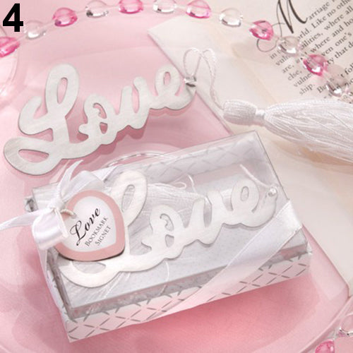 50PCS Letter LOVE Bookmark Wedding Favors and Gifts For Guest