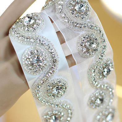 Wedding Accessories Crystal Beads Shinny Wedding Belt