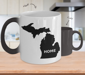 Michigan Color Changing Mug - The Great Lakes T Shirt, Apparel, and Clothing Company
