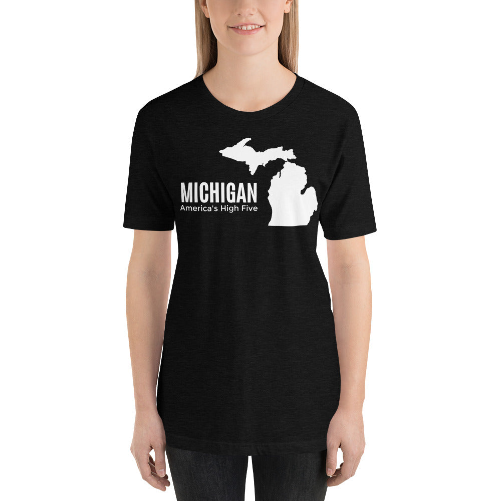 Michigan America's High Five T-Shirt - The Great Lakes T Shirt, Apparel, and Clothing Company