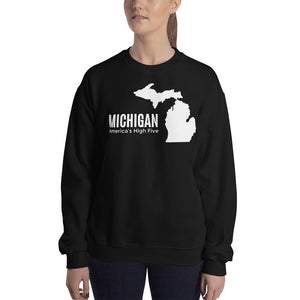Michigan America's High Five Sweater - The Great Lakes T Shirt, Apparel, and Clothing Company