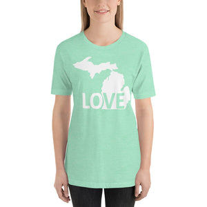 Michigan Love T-Shirt - The Great Lakes T Shirt, Apparel, and Clothing Company