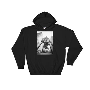 Detroit Michigan Fist Hooded Sweatshirt - The Great Lakes T Shirt, Apparel, and Clothing Company