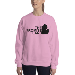 The Promise Land Michigan Crew Neck Sweatshirt - The Great Lakes T Shirt, Apparel, and Clothing Company