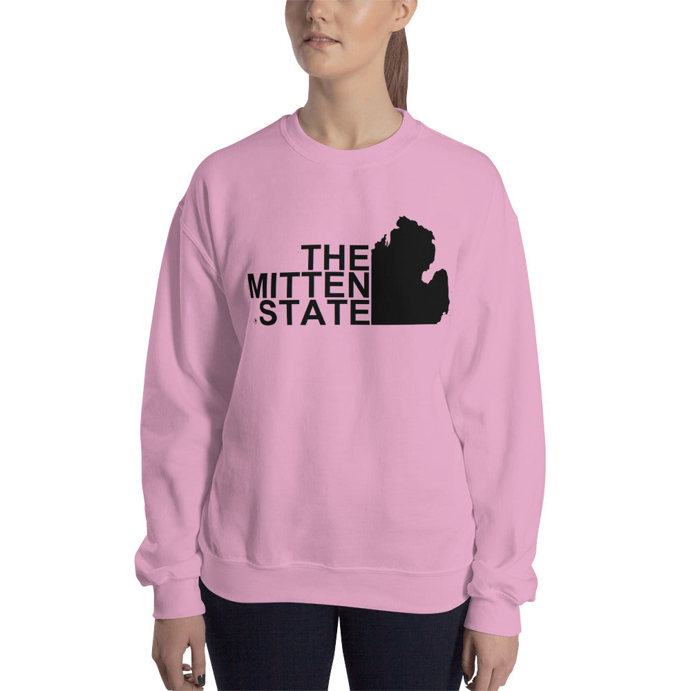 The Mitten State Sweatshirt - The Great Lakes T Shirt, Apparel, and Clothing Company