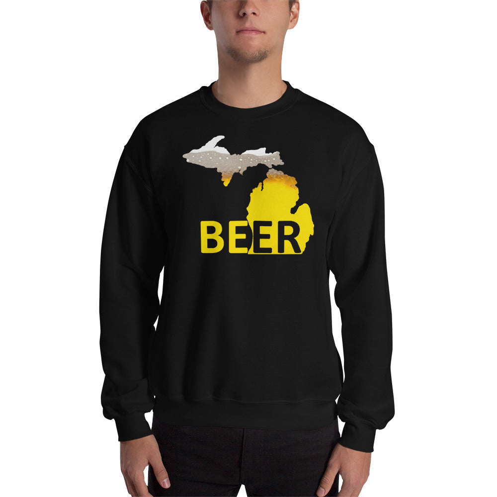 Michigan Beer Sweatshirt - The Great Lakes T Shirt, Apparel, and Clothing Company