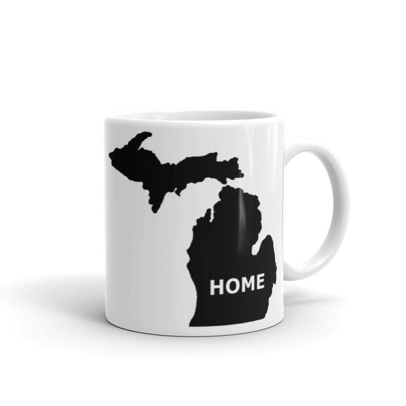 Michigan Home Mug - The Great Lakes T Shirt, Apparel, and Clothing Company