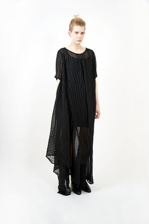 Draped Pleated Dress